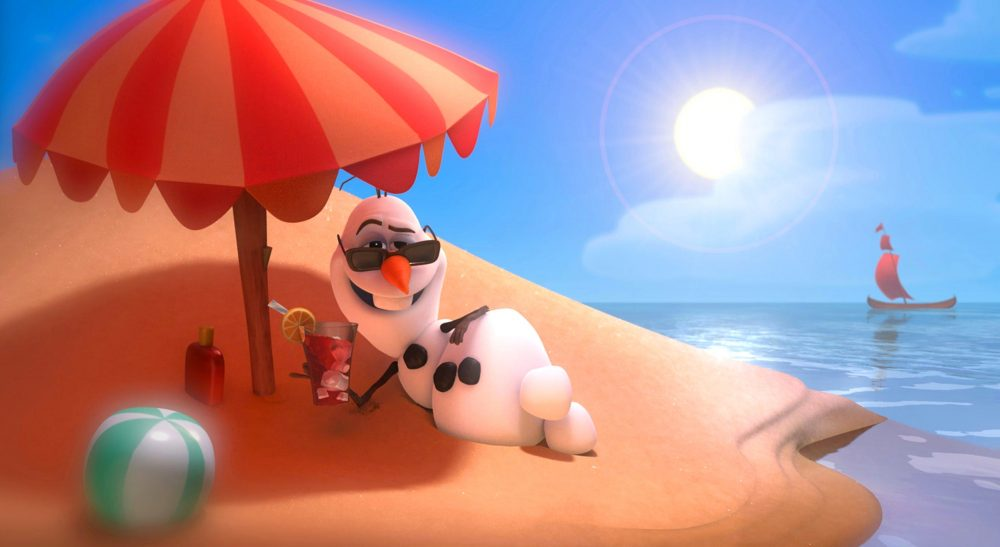 beachumbrella-Olaf-relax-in-the-sun-with-a-cocktail