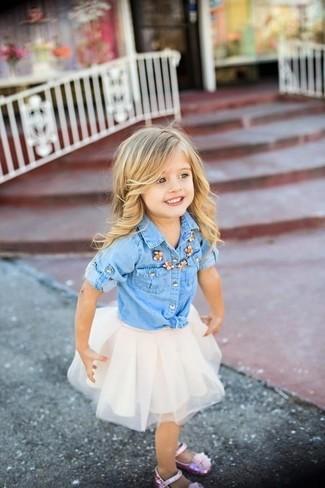 camisa-de-vestir-vaquera-celeste-falda-de-tul-blanca-bailarinas-rosadas-large-16353