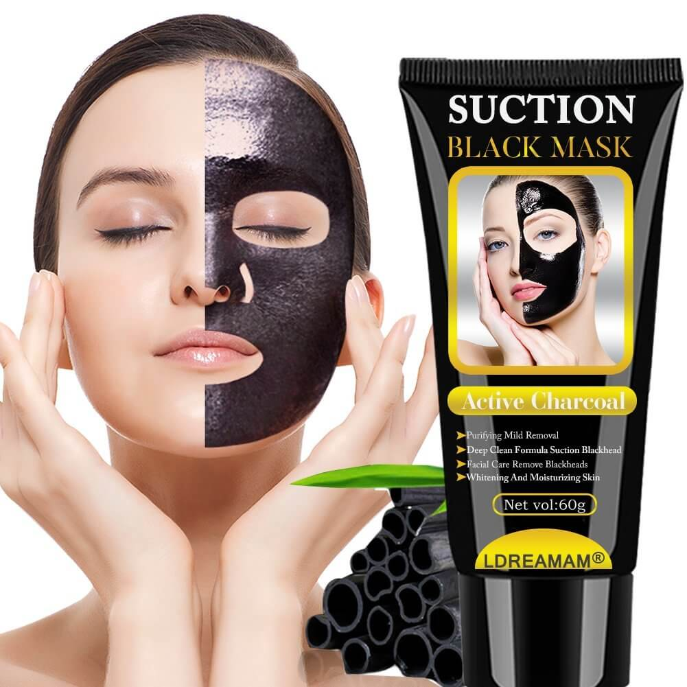 Suction mascarilla de carbon