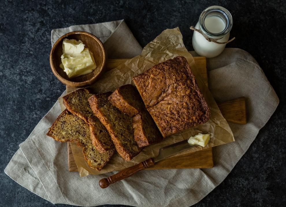 receta de pan de plátano