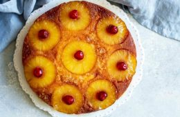 receta de pastel de piña invertido