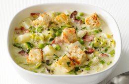 receta de sopa de patata con tocino
