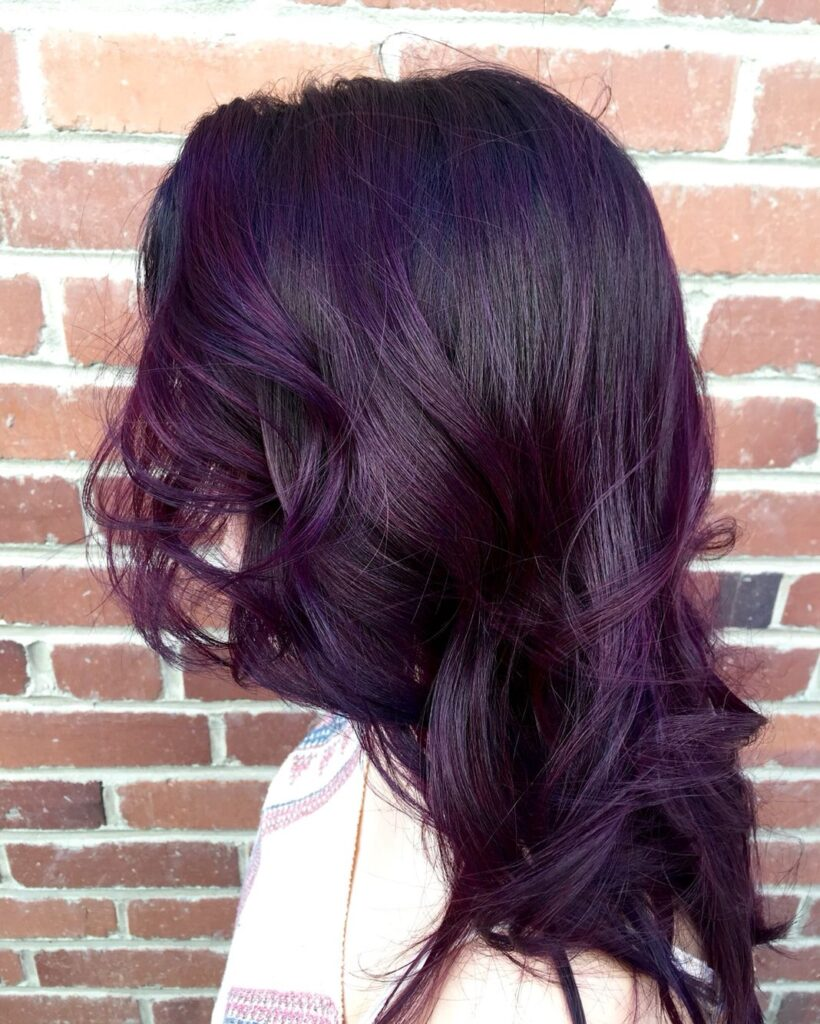 cabello morado